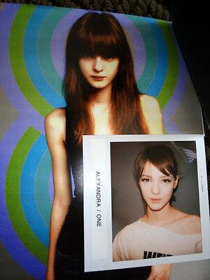 Alexandra Alex Sandor model agency card Victoria Secret