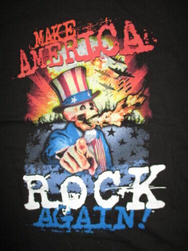 2017 Make America Rock Again (MED) Shirt DROWNING POOL SICK PUPPIES SCOTT STAPP
