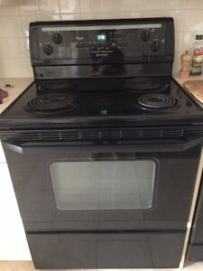 Whirlpool Fridge, Stove and Dishwasher, Black