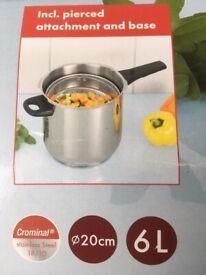 Pressure cooker 6 L MARKE TISCHFEIN as new.