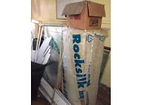 Quantity of various insulation products including Rockwool