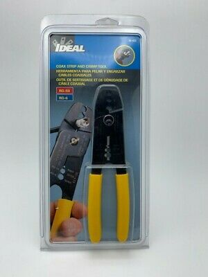 Ideal Coax Strip And Crimp Tool 30-433 Wire Stripper