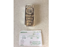 1kg .999 fine silver bar for sale - Emirates Gold