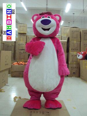 Lotso Pink Teddy Bear Story Costume - Halloween Toy Mascot Woody