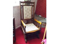 Vintage American style rocking chair