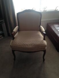 Ornate Chair - Fabric with dorkwood detailing