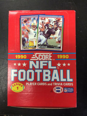 1990 Score Football Card - 1990 Score Series 1 & Series 2 - Lot of (2)- Football Card Unopened Boxes!