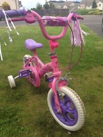 NEW BARBIE BICYCLE WITH REMOVABLE TRAINING WHEELS