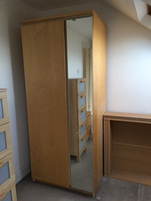 ikea malm wardrobe with mirror in wandsworth london gumtree. Black Bedroom Furniture Sets. Home Design Ideas
