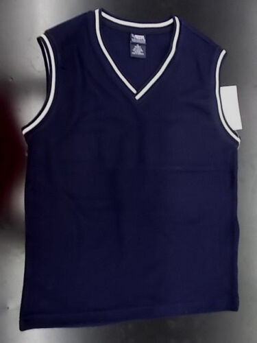 Boys French Toast Uniform Navy Sweater Vest Husky Size 10H - 20H
