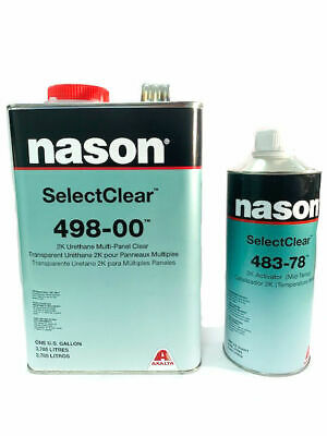 Nason SelectClear 498-00 2K Urethane Multi-Panel Clear Kit with Activator