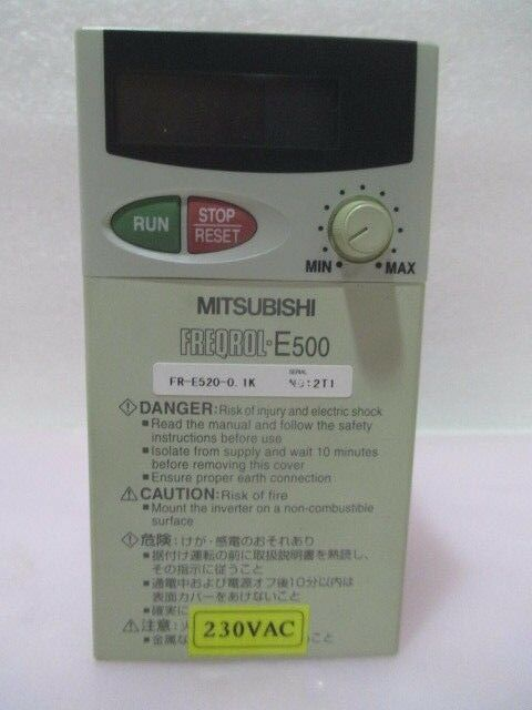 Mitsubishi FR-E520-0.1K Freqrol-E500 Inverter, 423040