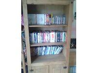 Corona 2 door display unit bookshelf cabinet solid wood - USED