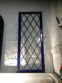 Brand new antique style stained glass panel