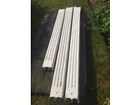 Timber pillars with lintel