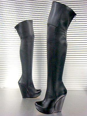 - Schwarze Plattform Stiefel