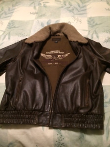 Men's Leather Flight Jacket