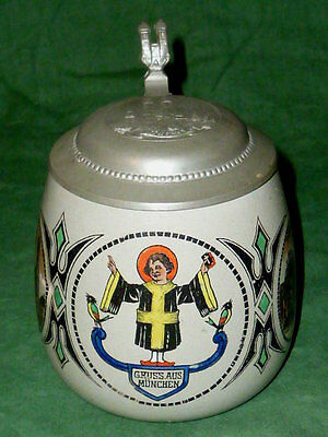 Old Beer jug Munich Kindel Kindl Jug jugs HB Munich Beer jugs Beerstein