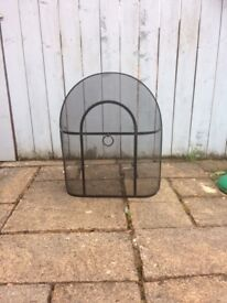 Traditional Black Iron Domed Fire Guard