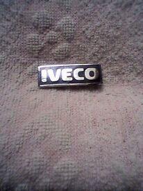 """IVECO"" METAL LAPEL BADGE - VINTAGE/1980's - UNUSED"