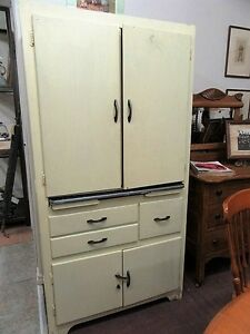 Old Vintage Kitchen Cupboard
