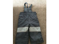 Boys ski Salopettes Age 12-18 months from Mothercare