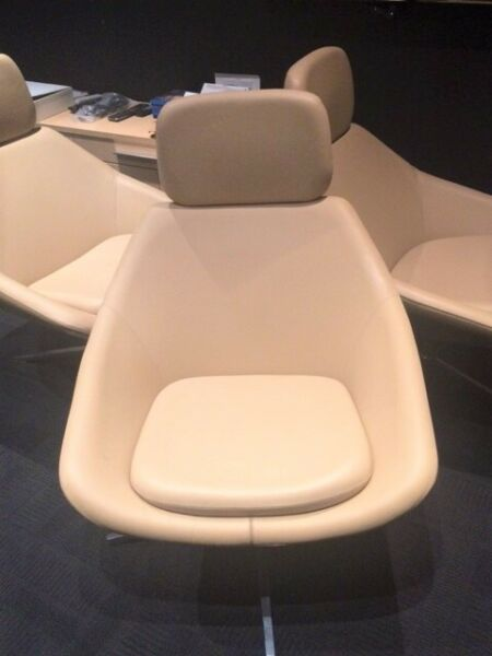Armchairs - cream leather home cinema seats  for sale  Hemel Hempstead, Hertfordshire