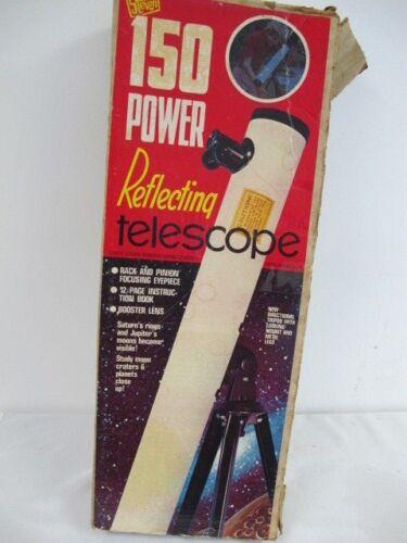 STEVEN 150 POWER REFLECTING TELESCOPE VINTAGE 1976 IN BOX