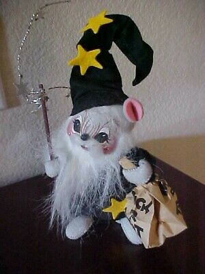 """NEW 1993 Annalee WIZARD Mouse Costume Halloween Trick or Treat Mouse 7"""""""
