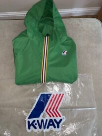 K-WAY Claude Boys Hooded Jacket: 14Y - Green. Excellent Condition - Cost £59, accept £25 ono