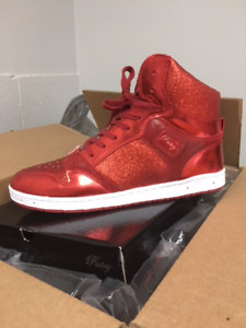 Size 13 Pastry Glam Sneakers Red