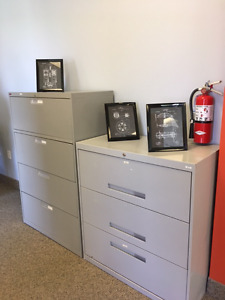 Two Lateral Filing Cabinets