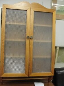 Vintage Medicine cabinet with towel rack