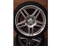 MERCEDES C CLASS ALLOY WHEELS AND TYRES