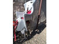 Polisport BOODIE Baby /Child seat for Carrier / Rack Mount / Pannier Rack Colour Grey/Red