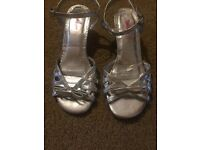 Silver Size 4 Shoes