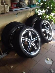 """20"""" mag wheels x 4, - VERTINI ALLOY RIMS / WHEELS WITH TYRES Sydenham Marrickville Area Preview"""