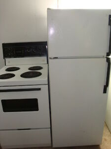 "Apartment size 24"" fridge and  stove"