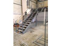 MEZZANINE FLOOR STEEL STAIRS £250 PER SET ABSOLUTE BARGAIN