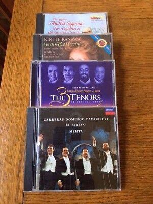 Group of FOUR CD's!!  Classical - Segovia, Verdi, Pucicni, 3 Tenors (6/8) (Groups Of Four)