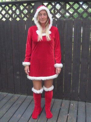 NOEL MRS. CLAUS CHRISTMAS ADULT WOMENS HALLOWEEN COSTUME SEXY RISQUE MED - Risque Halloween Costumes
