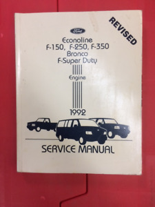 1992 Ford Truck Service Manuals