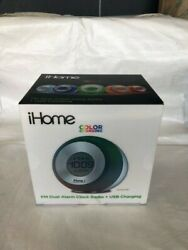 IHome Color Changing Alarm Clock Radio and USB Charger for Iphone etc.