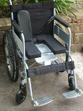 wheelchair toilet  INCONTINENCE  ultra light eazy push Rhodes Canada Bay Area Preview