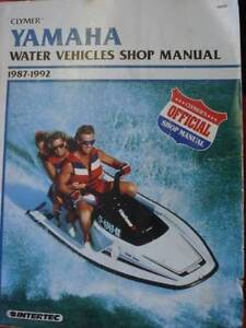 YAMAHA WATER VEHICLES WORKSHOP SERVICE MANUAL c1978 TO 1992 Dianella Stirling Area Preview
