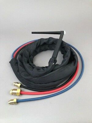 25' WP-20 Water Cooled Flex Tig Torch Package Miller Syncrowave 250  330A/BP Tig Torch Package