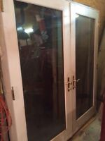 2 sets of exterior French doors