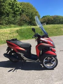 Yamaha Tricity 125cc - in Red, with Touring screen for greater riding comfort