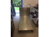 Large stainless steel porters trolley
