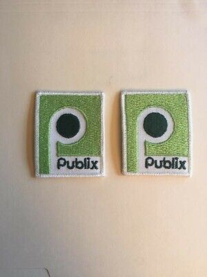 Publix Vintage Square P Patch.  This sale is for 2 New Patches